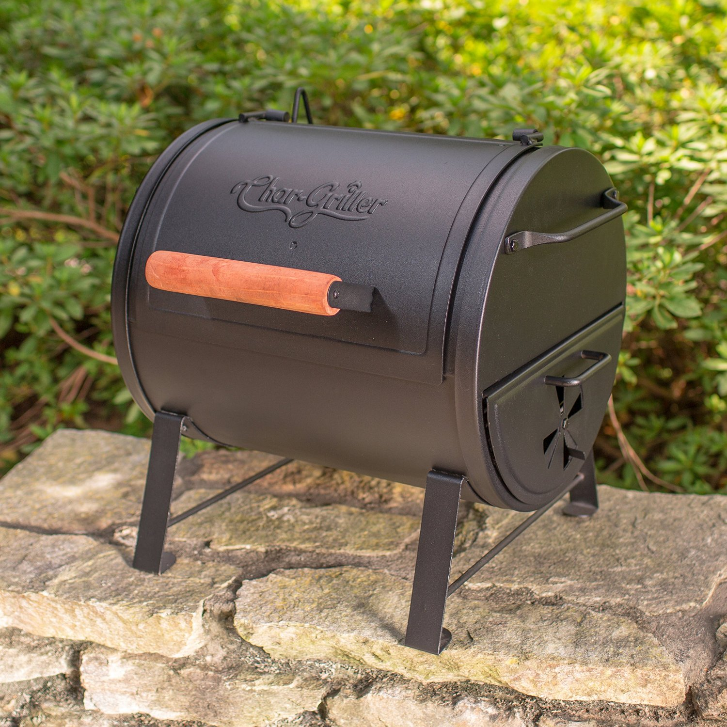 Char Griller 2 2424 Table Top Charcoal Grill And Side Fire Box Review